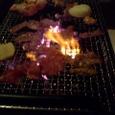 炎上する肉