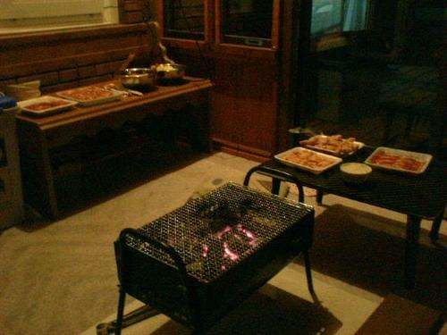 北海道の晩餐は焼肉