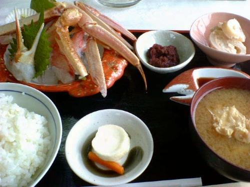 ずわい蟹刺身定食